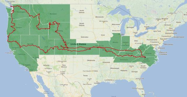 2012 Western US Moto Adv trip map