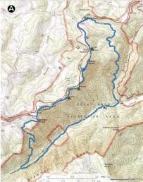 2020 rock castle gorge topo trail map